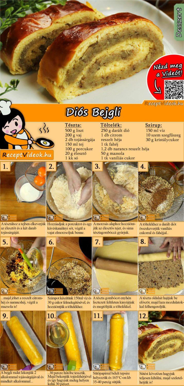 Diós Bejgli recept elkészítése videóval