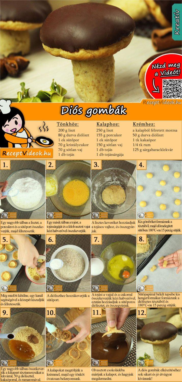 Diós gombák recept elkészítése videóval