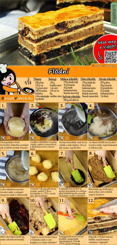 Flódni recept elkészítése videóval