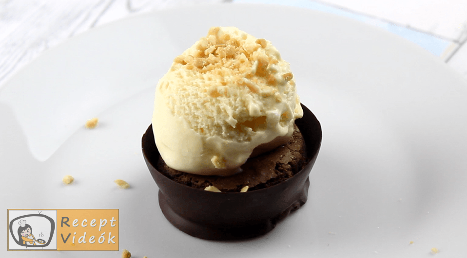 Csokoládé kosárka recept, Csokoládé kosárka elkészítése 3. lépés