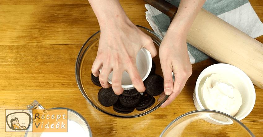 Oreo sajttorta recept, Oreo sajttorta elkészítése 1. lépés