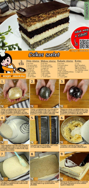 Csíkos szelet recept elkészítése videóval