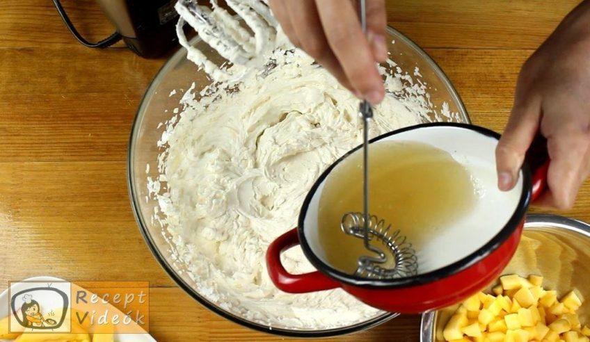 Mascarponés baracktorta recept, Mascarponés baracktorta elkészítése 8. lépés