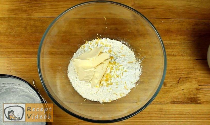 Olasz citromtorta recept, Olasz citromtorta elkészítése 1. lépés