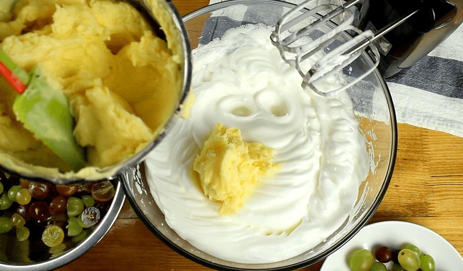 Szőlős krémes recept, Szőlős krémes elkészítése 4. lépés