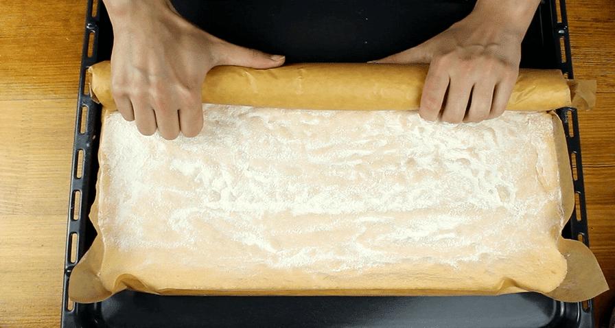 Szőlős-mákos tekercs recept, Szőlős-mákos recept elkészítése 5. lépés