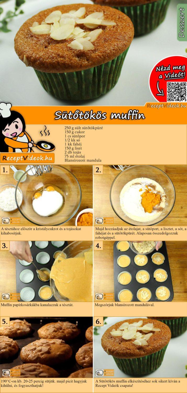 Sütőtökös muffin recept elkészítése videóval