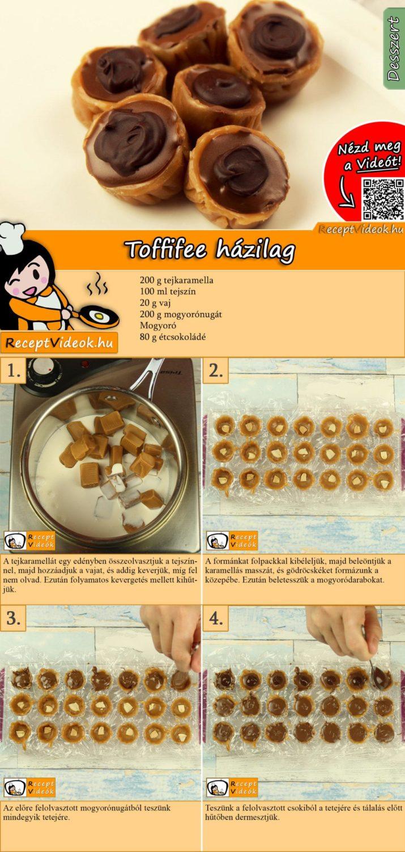 Toffifee házilag recept elkészítése videóval