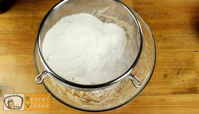 Almás-gesztenyés kevert süti recept, Almás-gesztenyés kevert süti elkészítése 3. lépés