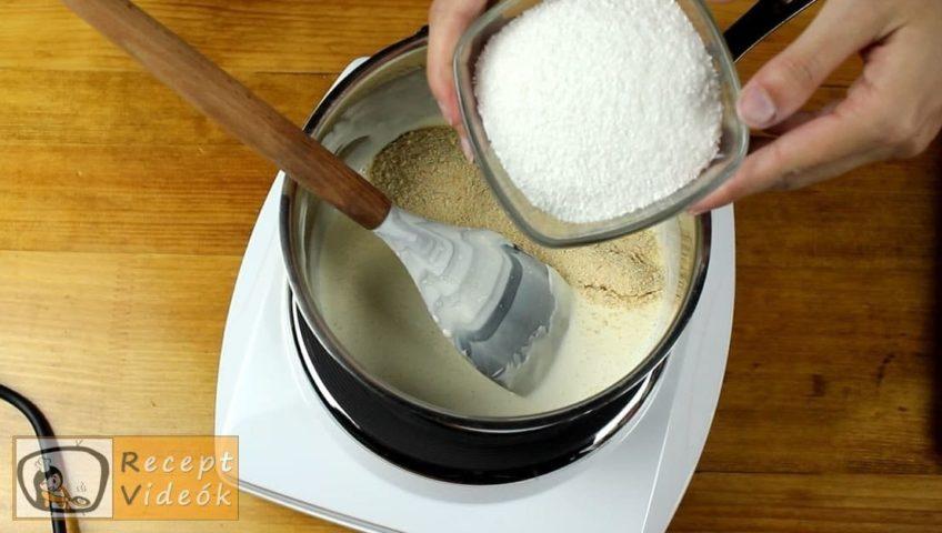 Kókuszos-barackos sajttorta recept, Kókuszos-barackos sajttorta elkészítése 3. lépés