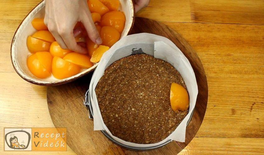 Kókuszos-barackos sajttorta recept, Kókuszos-barackos sajttorta elkészítése 4. lépés