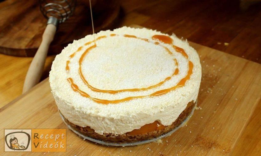 Kókuszos-barackos sajttorta recept, Kókuszos-barackos sajttorta elkészítése 6. lépés