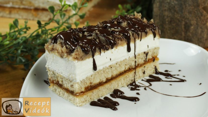 Gesztenyés mascarpone szelet recept, Gesztenyés mascarpone szelet elkészítése - Recept Videók