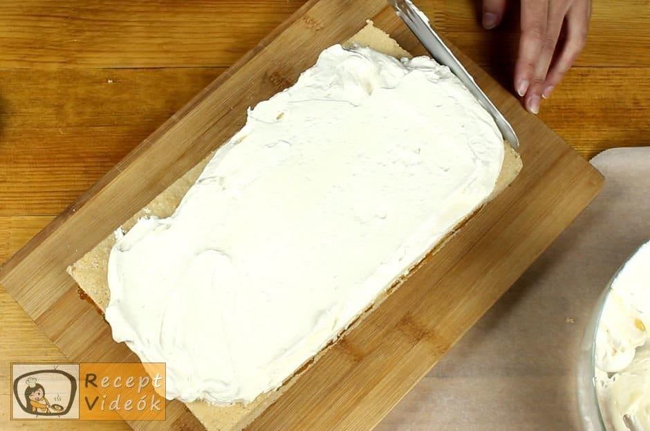 Gesztenyés mascarpone szelet recept, Gesztenyés mascarpone szelet elkészítése 7. lépés