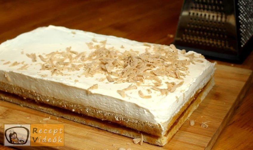 Gesztenyés mascarpone szelet recept, Gesztenyés mascarpone szelet elkészítése 8. lépés