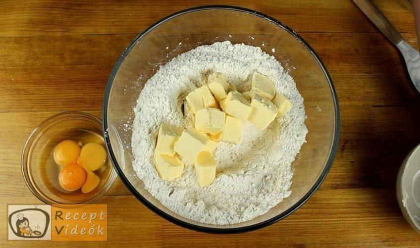 Narancsos-habos linzerkarika recept, Narancsos-habos linzerkarika elkészítése 2. lépés