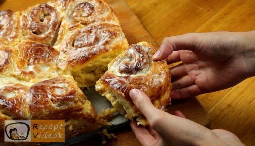 Sütőtökös-fahéjas csiga recept, a Sütőtökös-fahéjas csiga elkészítése 11. lépés