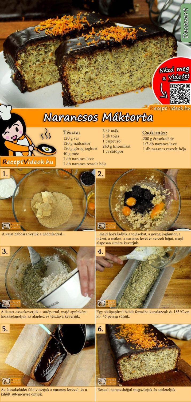 Narancsos Máktorta recept elkészítése videóval