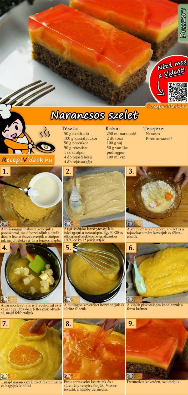 Narancsos szelet házilag recept elkészítése videóval