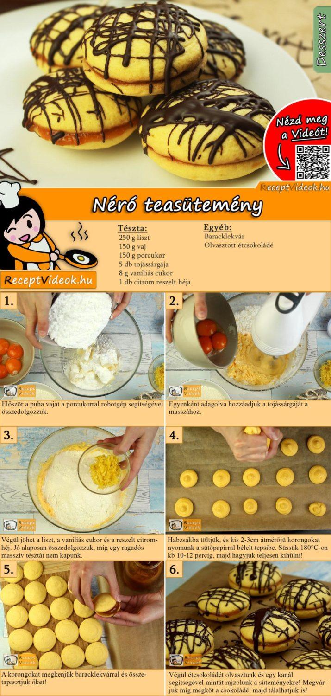 Néró teasütemény recept elkészítése videóval