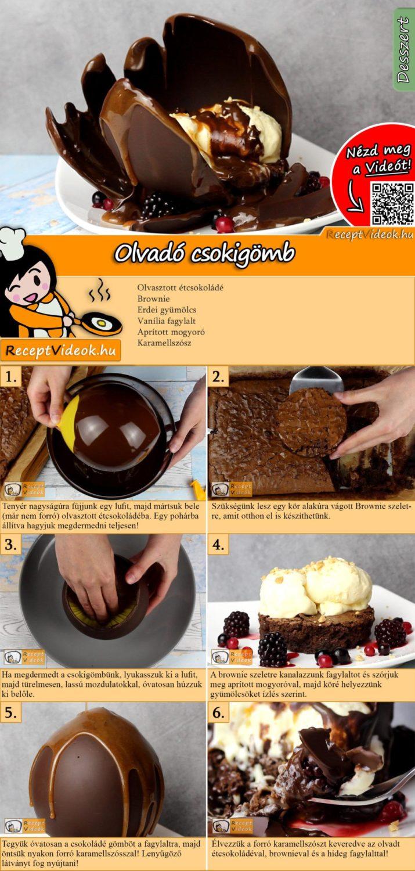 Olvadó csokigömb recept elkészítése videóval