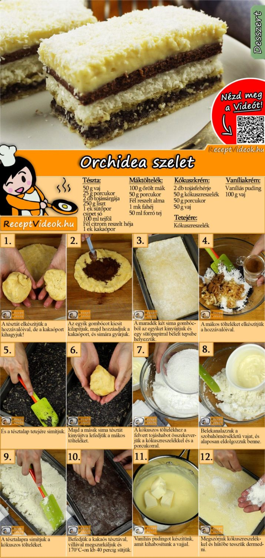 Orchidea szelet recept elkészítése videóval