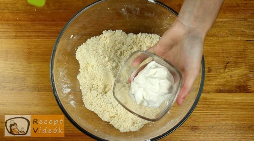 Almás-diós-narancsos pite recept, Almás-diós-narancsos pite elkészítése 2. lépés