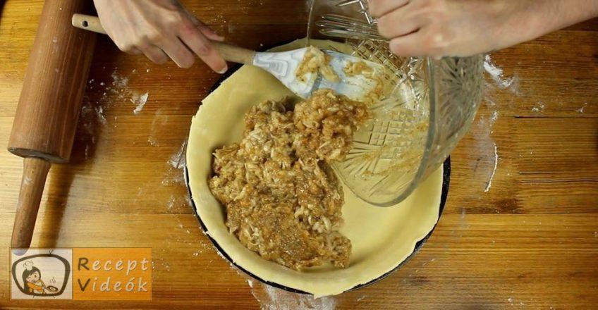 Almás-diós-narancsos pite recept, Almás-diós-narancsos pite elkészítése 7. lépés