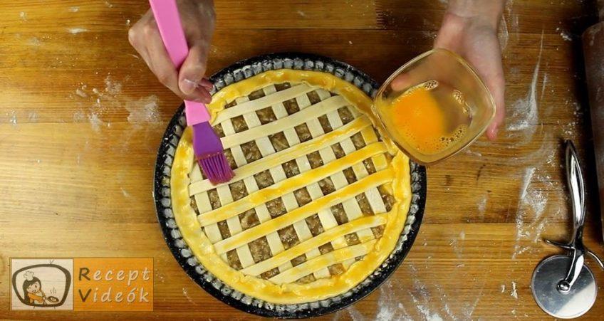 Almás-diós-narancsos pite recept, Almás-diós-narancsos pite elkészítése 9. lépés