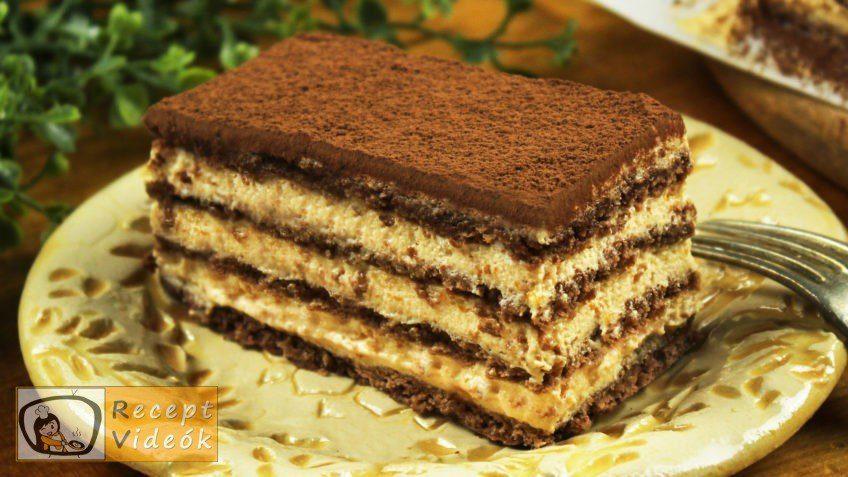 Kávés-karamellás szelet recept, Kávés-karamellás szelet elkészítése - Recept Videók