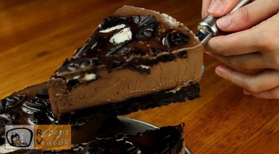 Sütés nélküli csokoládétorta recept, Sütés nélküli csokoládétorta elkészítése - Recept Videók