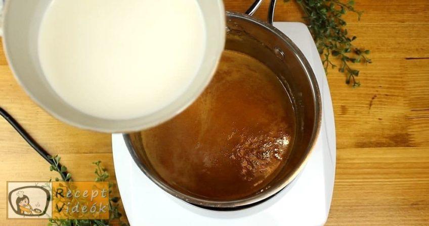 Kávés-karamellás szelet recept, Kávés-karamellás szelet elkészítése 7. lépés