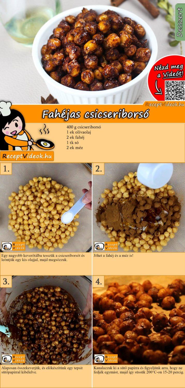 Fahéjas csicseriborsó recept elkészítése videóval