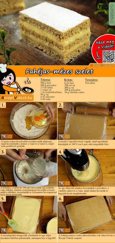 Fahéjas-mézes szelet recept elkészítése videóval