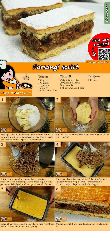 Farsangi szelet recept elkészítése videóval