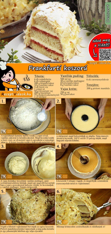 Frankfurti koszorú recept elkészítése videóval
