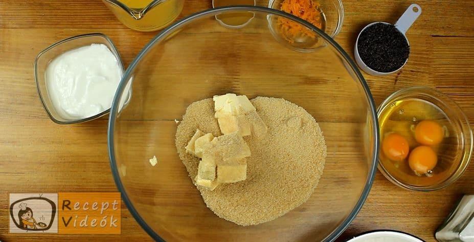 Narancsos Máktorta recept, Narancsos Máktorta elkészítése 1. lépés