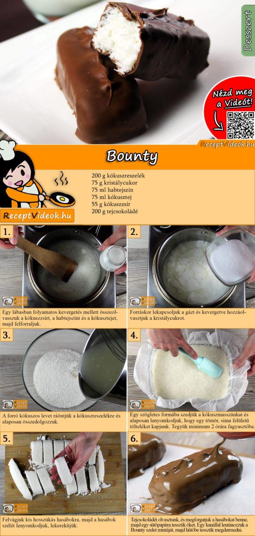 Bounty recept elkészítése videóval
