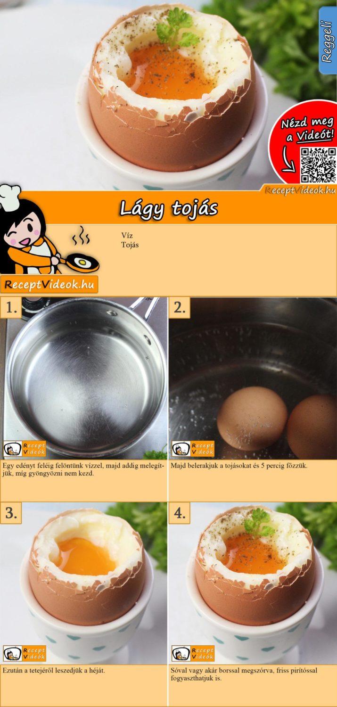 Lágy tojás recept elkészítése videóval