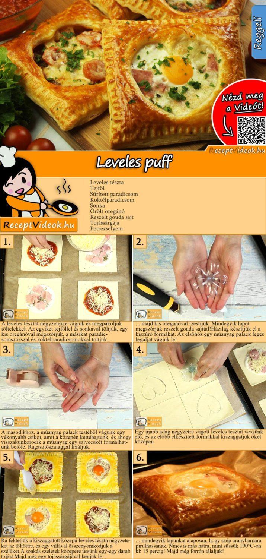 Leveles puff recept elkészítése videóval