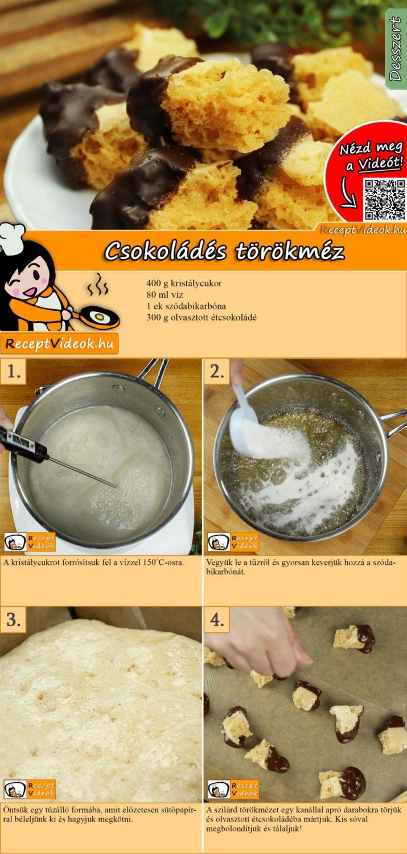 Csokoládés törökméz recept elkészítése videóval