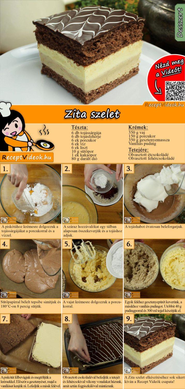 Zita szelet recept elkészítése videóval